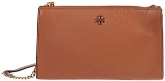 Tory Burch Pebbled Top Zip Crossbody (Classic Tan) Handbags