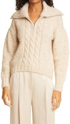 Birgitte Herskind Electra Alpaca Blend Quarter Zip Sweater