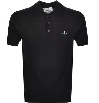 Vivienne Westwood Knitted Polo T Shirt Black