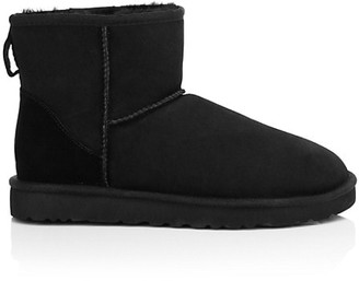 UGG Classic Heritage Suede & Shearling Classic Mini Bomber Boots