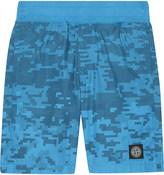 Stone Island Pixel print cotton shorts 4-14 years