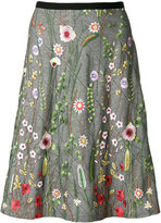 Odeeh floral embroidered skirt