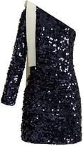 MSGM One-shoulder sequin-embellished dress