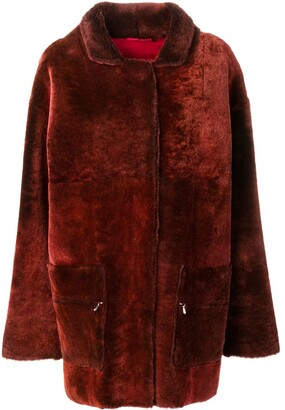 Liska Melouria midi fur coat