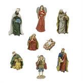 Asstd National Brand 12.25 Jewel Tone Inspirational Religious NativityFigurine- Set of 8
