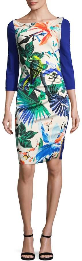 Roberto Cavalli Women's Tropical Print Sheath Dress