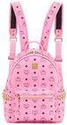 mcm stark visetos small sidestud backpack pink