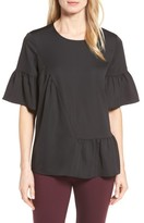 Halogen Petite Women's Ruffle Sleeve Top