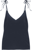 Araks Lewis Washed-silk Crepe De Chine Camisole - Midnight blue