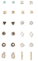 BP Women's 12-Pack Geometric Stud Earrings