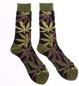 K. Bell Socks Hemp Leaf Jungle Men's Crew Socks
