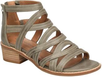 Comfortiva Leather Block-Heel Gladiators - Betha
