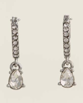 Givenchy Rhodium-Tone Drop Earrings
