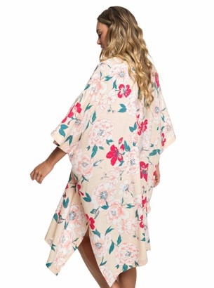 Roxy Women's Fringe 3/4 Sleeve Kimono