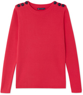 Petit Bateau Womens plain cotton sailor sweater