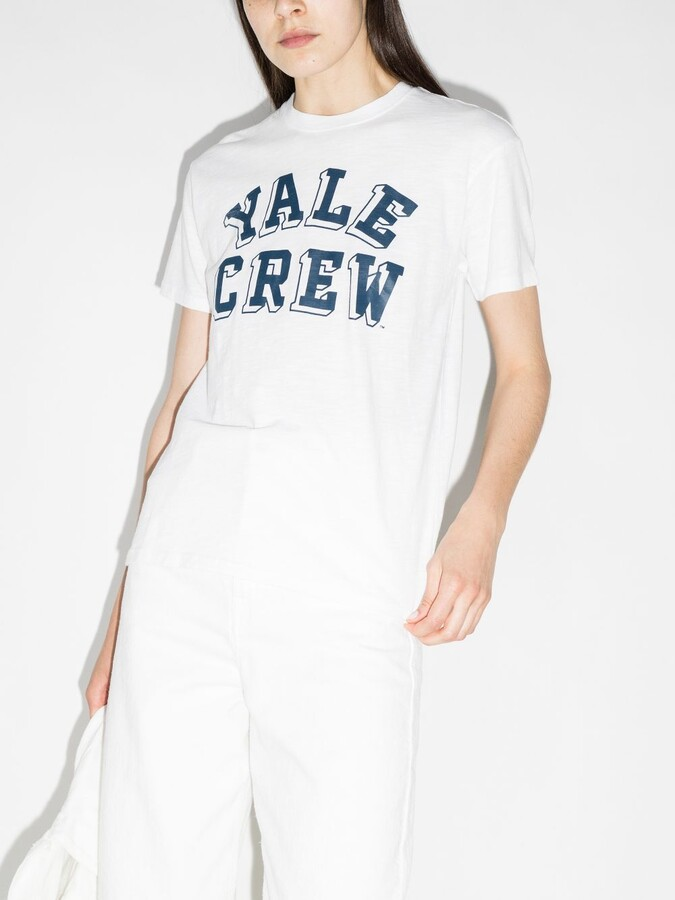 Thumbnail for your product : Denimist White Yale Crew T-Shirt
