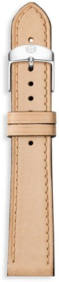 Michele Thin Leather Watch Strap/18MM