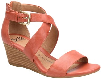 Sofft Leather Wedge Sandals - Mauldin
