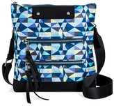 Mossimo Women's' Geometric Print Passport Crossbody Handbag Blue