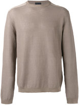 Etro crew neck jumper - men - Cotton/Linen/Flax/Leather - M