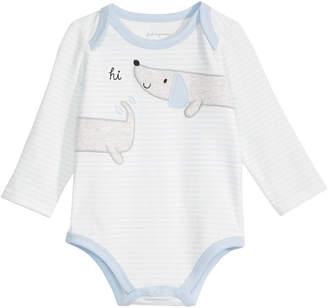 First Impressions Baby Girls Striped Dog Bodysuit