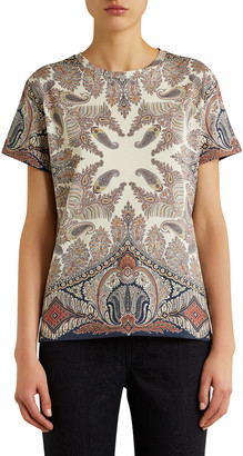 Etro Paisley Cotton Jersey Top