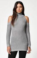 La Hearts Cold Shoulder Tunic Sweater