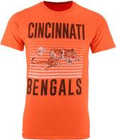 Junk Food Clothing Men's Cincinnati Bengals Block Shutter T-Shirt