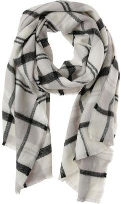 Miss Shop Multi Check Fringed Blanket Scarf
