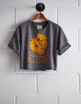 Tailgate Michigan Cropped Sweatshirt