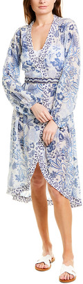 Taj By Sabrina Crippa Pleated Midi Dress