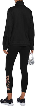 DKNY Printed French Cotton-blend Terry Track Jacket