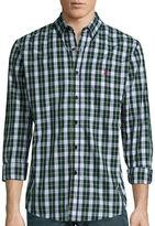 USPA U.S. Polo Assn. Long-Sleeve Patterned Poplin Sport Shirt