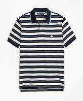 Brooks Brothers Slim Fit Tipped Collar Stripe Polo Shirt