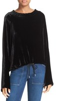 See by Chloe Women's Smocked Neck Velvet Top