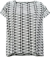 Issey Miyake geometric short sleeved top - women - Cotton/Polyester/Lyocell - 3