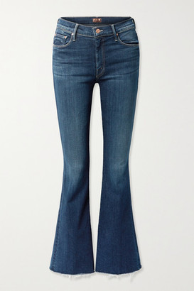 Mother The Weekender High-rise Flared Jeans - Mid denim
