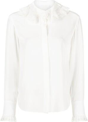Chloé Ruffled-Neck Silk Shirt