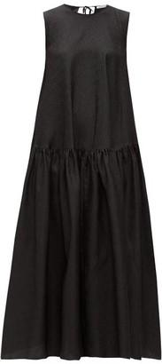 Cecilie Bahnsen Anna Karin Floral-cloque Dress - Black