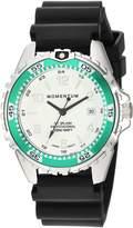 Momentum Women's Quartz Stainless Steel and Rubber Diving Watch, Color:Black (Model: 1M-DN11LA1B)