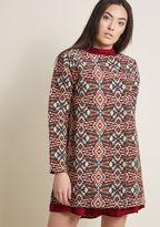 Compania Fantastica Tapestry Coat with Pockets in Geometric in S by Compania Fantastica from ModCloth