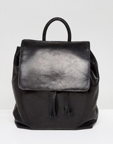Urban Code Urbancode Leather Backpack With Tie Detail