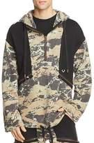 True Religion Camouflage Knit Hooded Anorak Sweatshirt