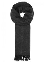 BOSS Heroso Anthracite Wool Scarf