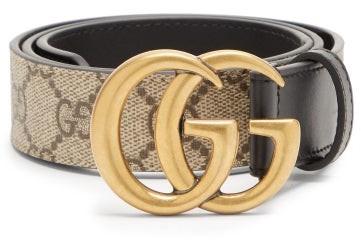Gucci GG Supreme Leather Belt - Black Multi