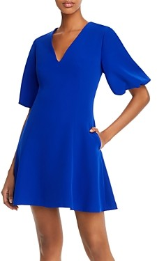 Milly Bubble-Sleeve Fit and Flare Dress