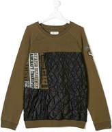 John Galliano padded panel sweatshirt