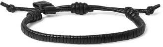 Bottega Veneta Woven Leather Bracelet - Blue