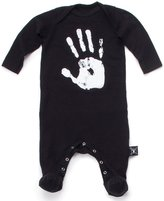 Nununu Infant Hand Print Footie - Black