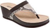 SoftWalk Women's Heights Thong Wedge Sandal